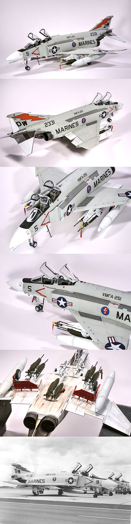 1:48 Academy F-4B with various aftermarket goodies and Furball Decals.