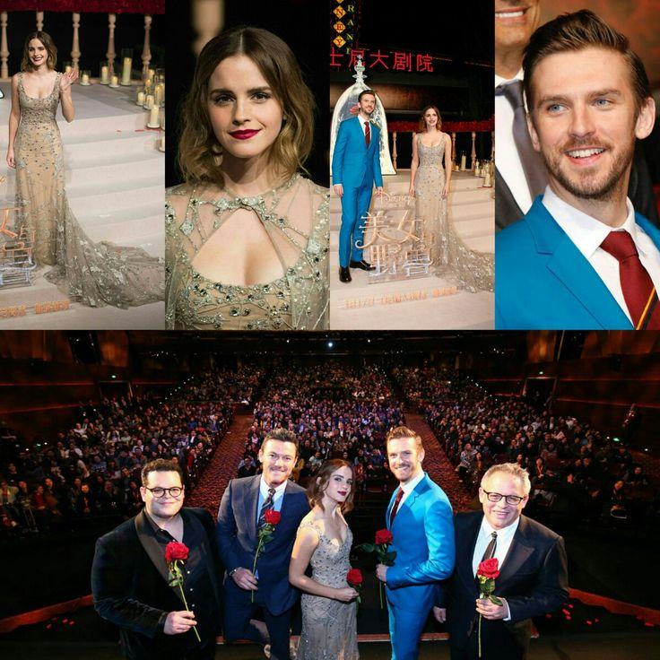 #DanStevens, #EmmaWatson, #LukeEvans, and #JoshGad at the #BeautyAndTheBeast premiere in Shanghai, China! • • • • • #DanStevens, #EmmaWatson, #LukeEvans e #JoshGad na premiere de #ABelaEAFera em Xangai, na China!