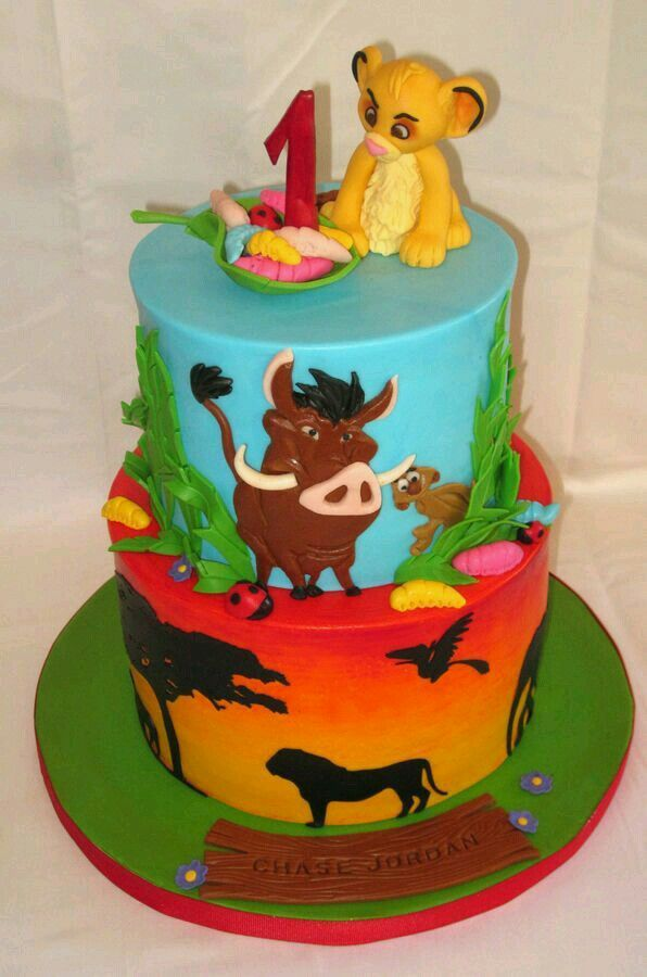 25 best Destinys baby shower cake ideas for Baby Simba and Lion