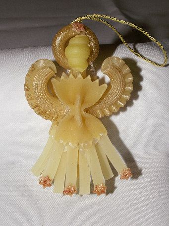 Angel made from pasta. Cute :-)