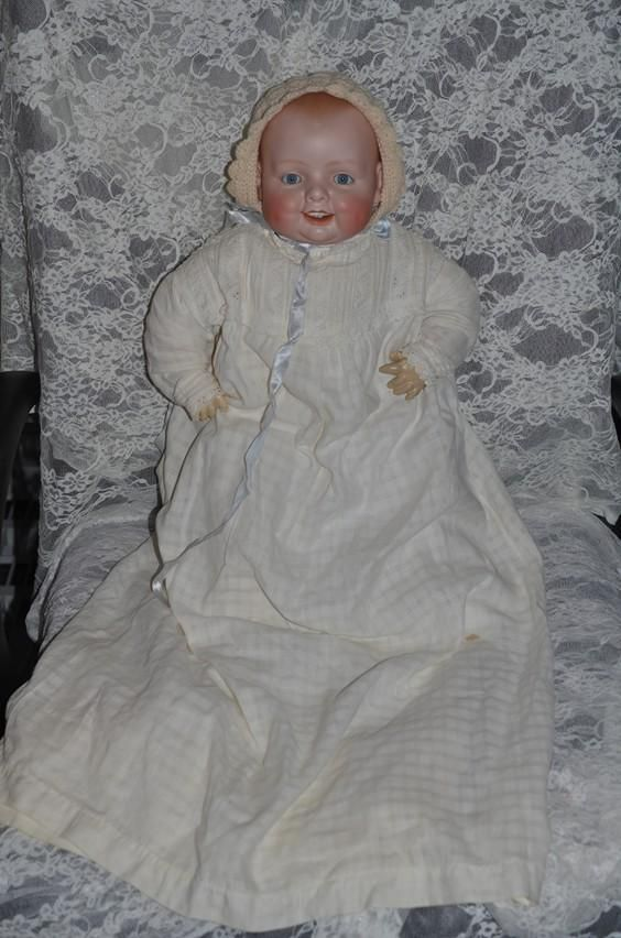 """22"""" Antique Doll Bisque Georgene Averill Bonnie Babe Big Baby from oldeclectics on Ruby Lane"""
