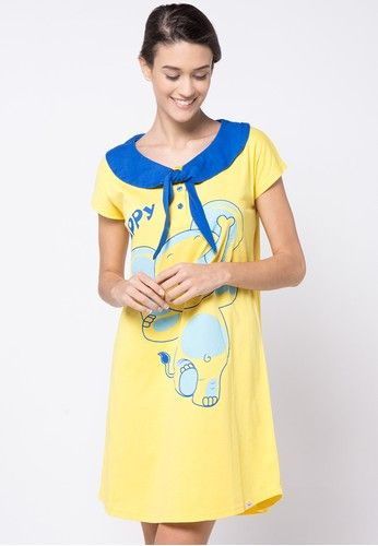 Dress Night Elephant Cute from Puppy in yellow_1