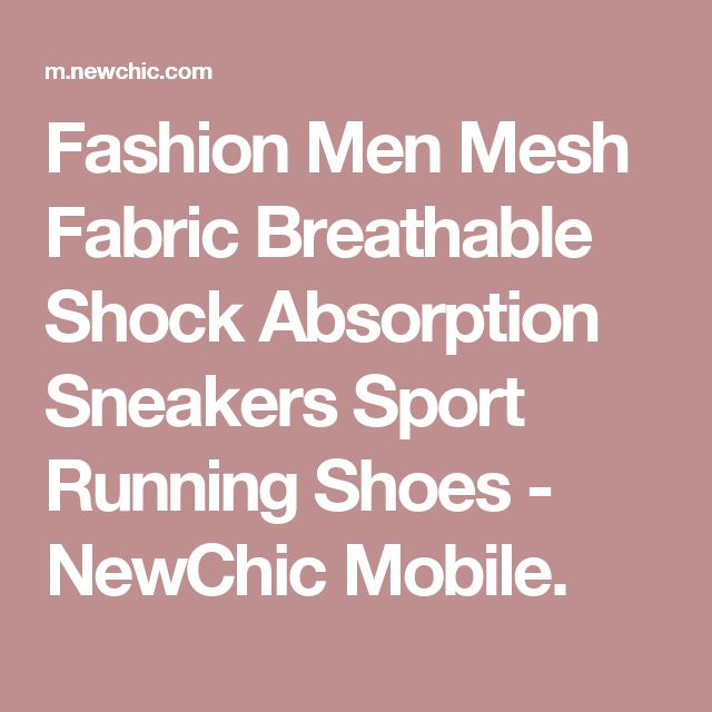 Fashion Men Mesh Fabric Breathable Shock Absorption Sneakers Sport Running Shoes - NewChic Mobile.