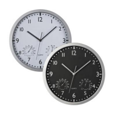 Image of Promotional Classic Wall Clock.Printed Wall Clock With Thermometer.
