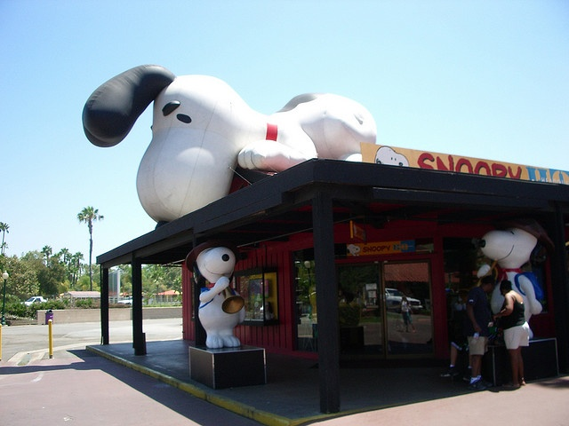 Snoopy Store at Knott's Berry Farm, CA    I love this store. Bought a lot of cute cloths for the baby.  Lots of great stuff in there