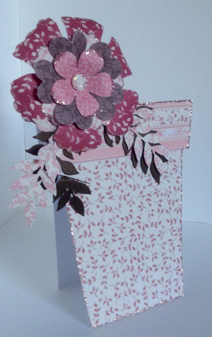 Beautiful flower pot card created by Emma Smith using the Rosa collection.