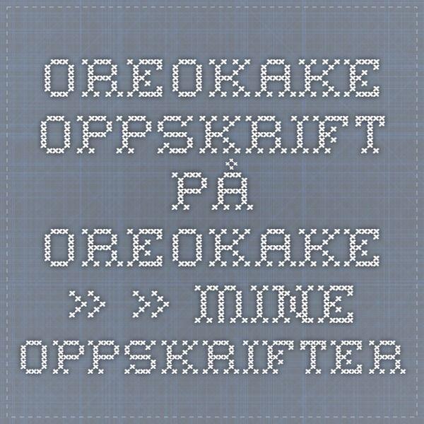 Oreokake - Oppskrift på Oreokake » » - Mine oppskrifter