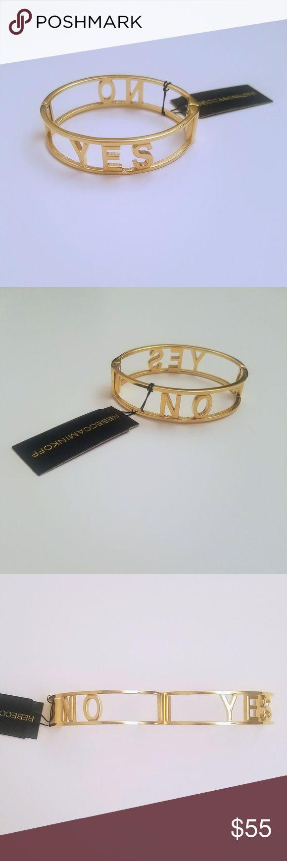 Rebecca Minkoff Gold Yes No Bracelet Rebecca Minkoff Gold Yes No Bracelet     Magnetic closure New with Tags Rebecca Minkoff Jewelry Bracelets