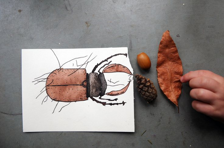 Stag Beetle - Chimaeren / Painting with a toddler / momlife / art / diy / inspiration / watercolor / print / card / drawing / illustration / animal
