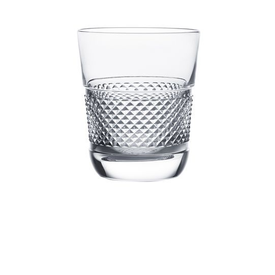 This diamond cut clear crystal tumbler designed by thomas bastide lends a tasteful contemporary touch to a luxurious table thomas bastides stylish diamant