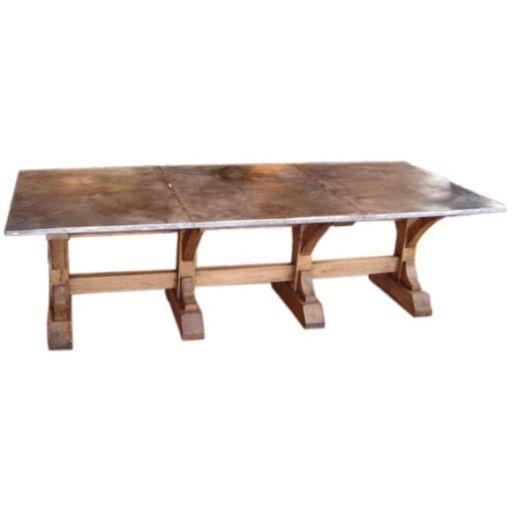 dining table furniture zinc top dining table. Black Bedroom Furniture Sets. Home Design Ideas
