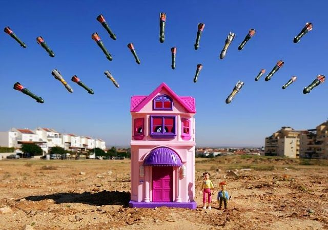 Childrens View of War Photographed With Toys
