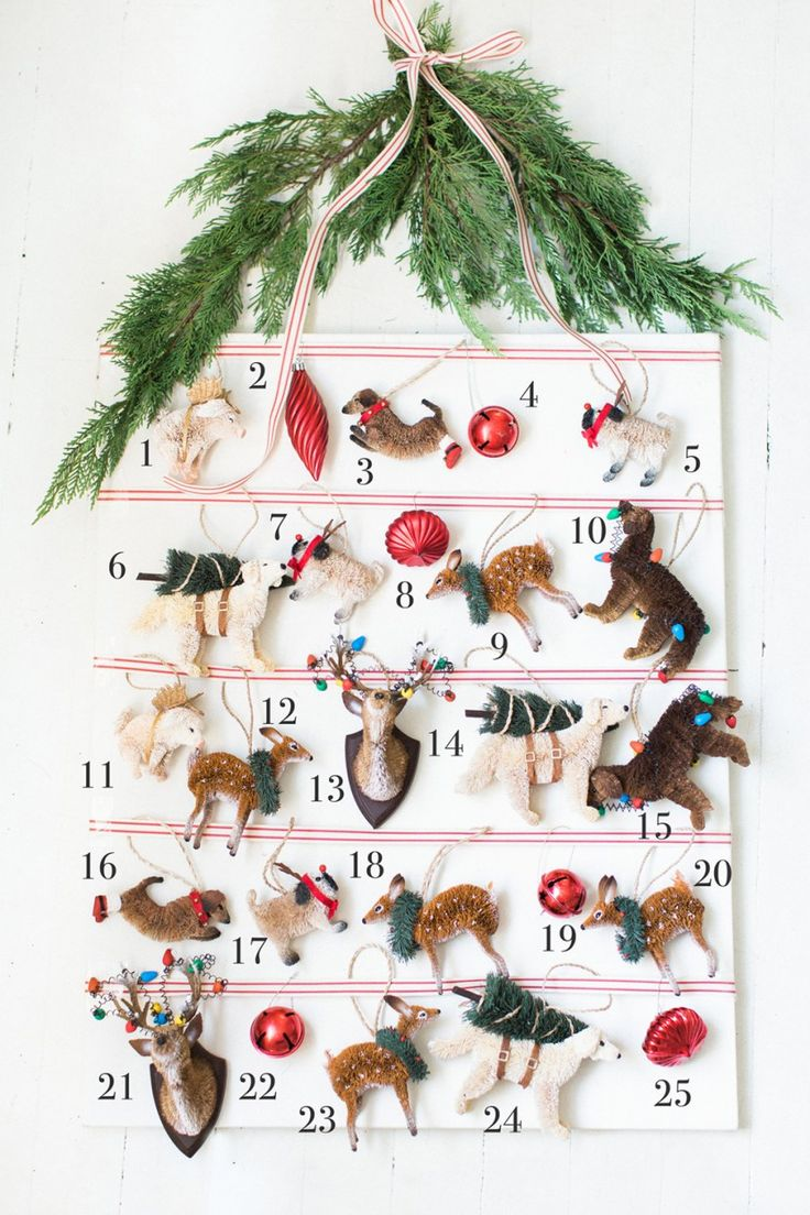 816 best christmas advent calendar images on pinterest for Christmas tree advent calendar diy