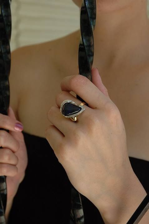 Olil.com.au Olil Jewellery Hand made black opal ring