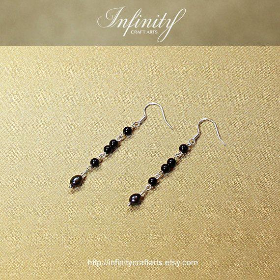 #Gemstone #Black #Onyx #earrings #Freshwater #Pearl by #InfinityCraftArts https://www.etsy.com/ca/listing/238966625/gemstone-black-onyx-earrings-freshwater?ref=shop_home_active_4