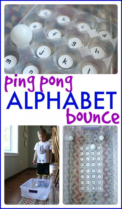 Ping Pong Alphabet Bounce. Creative ABC game for kids.