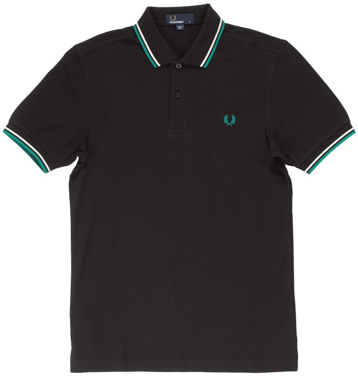 FRED PERRY TWIN TIPPED POLO SHIRT BLK& SNW& FANFARE $74.00 #fredperry #guys #polo