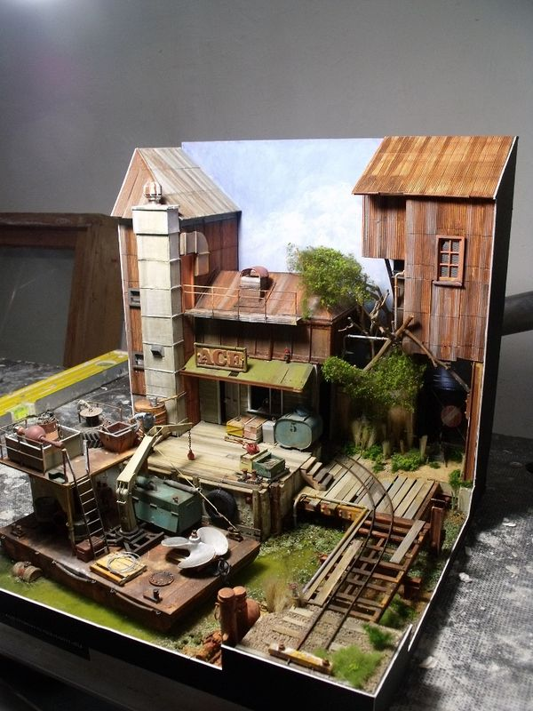 Exceptionnel 82 best Diorama of miniature buildings images on Pinterest  RC54