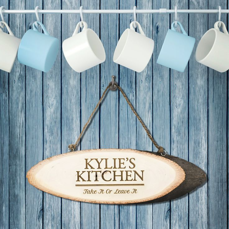 Personalised Rustic Kitchen Sign - Birthday Gift - Kitchen Decor by KiddiClub on Etsy