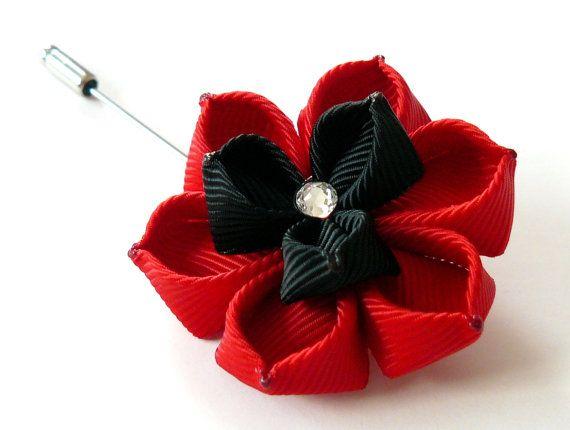 Prendedor de flor de los hombres. Broche de flor de por JuLVa