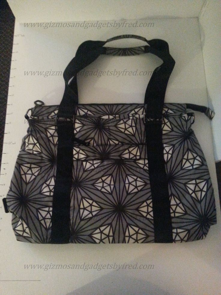 Great looking shoulder bag / tote bag made by Koko. Diamond pattern.  www.gizmosandgadgetsbyfred.com