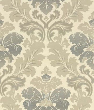 Bonaparte  (0284BPPIERR) - Little Greene Wallpapers - A revision of a classic 19th C French damask, this wallpaper has been given a modern and contemporary feel by using rich shades of colour, layering and a graduation of colour. Shown here in taupe, cream and grey. Other colour ways are available. Please request a sample for a true colour match.