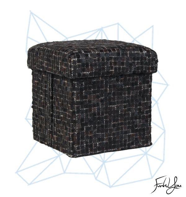 Cubo Ottoman -  Black www.funkyou.com.au