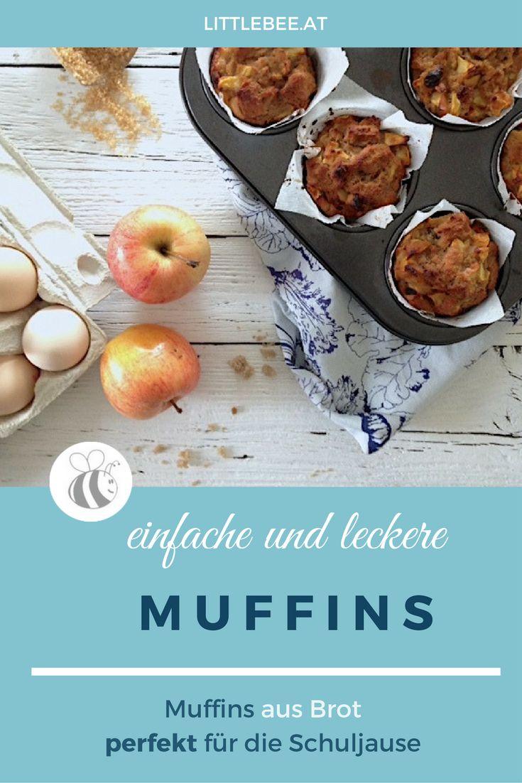 #zerowaste Muffins aus Brot mit Apfel - perfekt zur Resteverwertung und zum mitnehmen ; Bento Schuljause