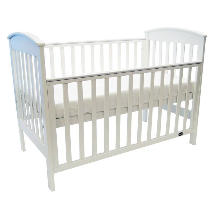 babyhood Classic Curve Cot White