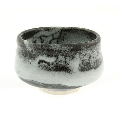 1(pc) Japanese Matcha Chawan Yuteki Shino Tea Bowl and box #114-565 in | eBay