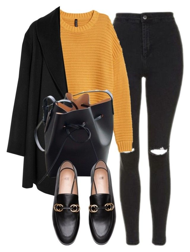 """Untitled #7168"" by laurenmboot ❤ liked on Polyvore featuring Topshop, Agnona and Mansur Gavriel"