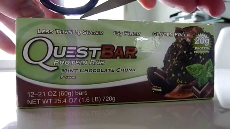 More info: http://goo.gl/EctAIu  Quest Nutrition, Quest Bar, Protein Bar, Mint Chocolate Chunk Flavor, 12 Bars, 2.1 oz (60 g) Each