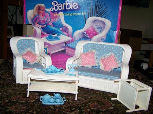 17 beste afbeeldingen over barbies from the 80 39 s op - Barbie living room dress up games ...