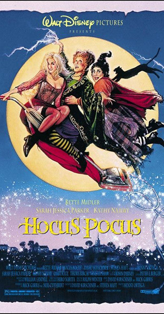 Directed by Kenny Ortega.  With Bette Midler, Sarah Jessica Parker, Kathy Najimy, Omri Katz. After three centuries, three witch sisters are resurrected in Salem, Massachusetts on Halloween night, and it is up to two teenagers, a young girl, and an immortal cat to put an end to their reign of terror once and for all.