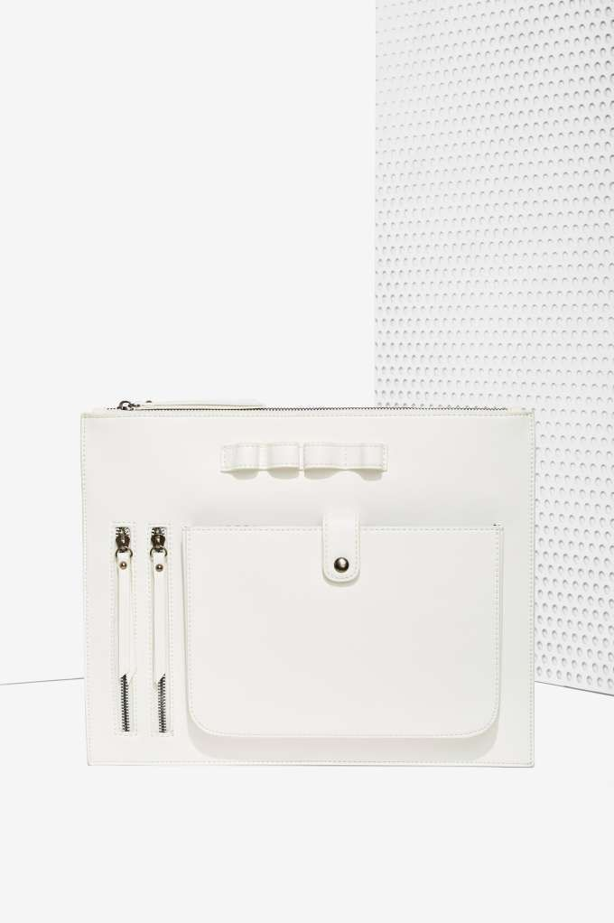 Nasty Gal x Nila Anthony White Knucklin' It  Vegan Leather Clutch   Shop Accessories at Nasty Gal