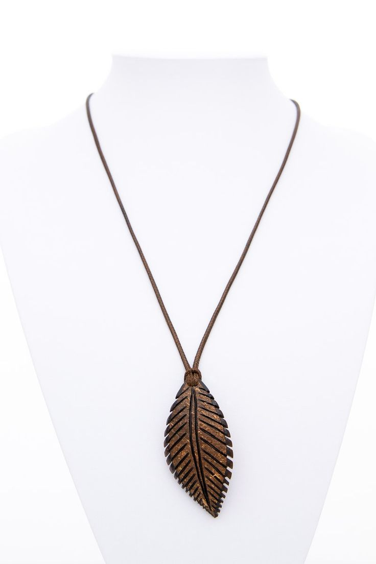 Best 25 leaf pendant ideas on pinterest leather jewelry the gift idea pendant indian leaf from coconut shell natural unisex pendant hand carved leaf aloadofball Image collections