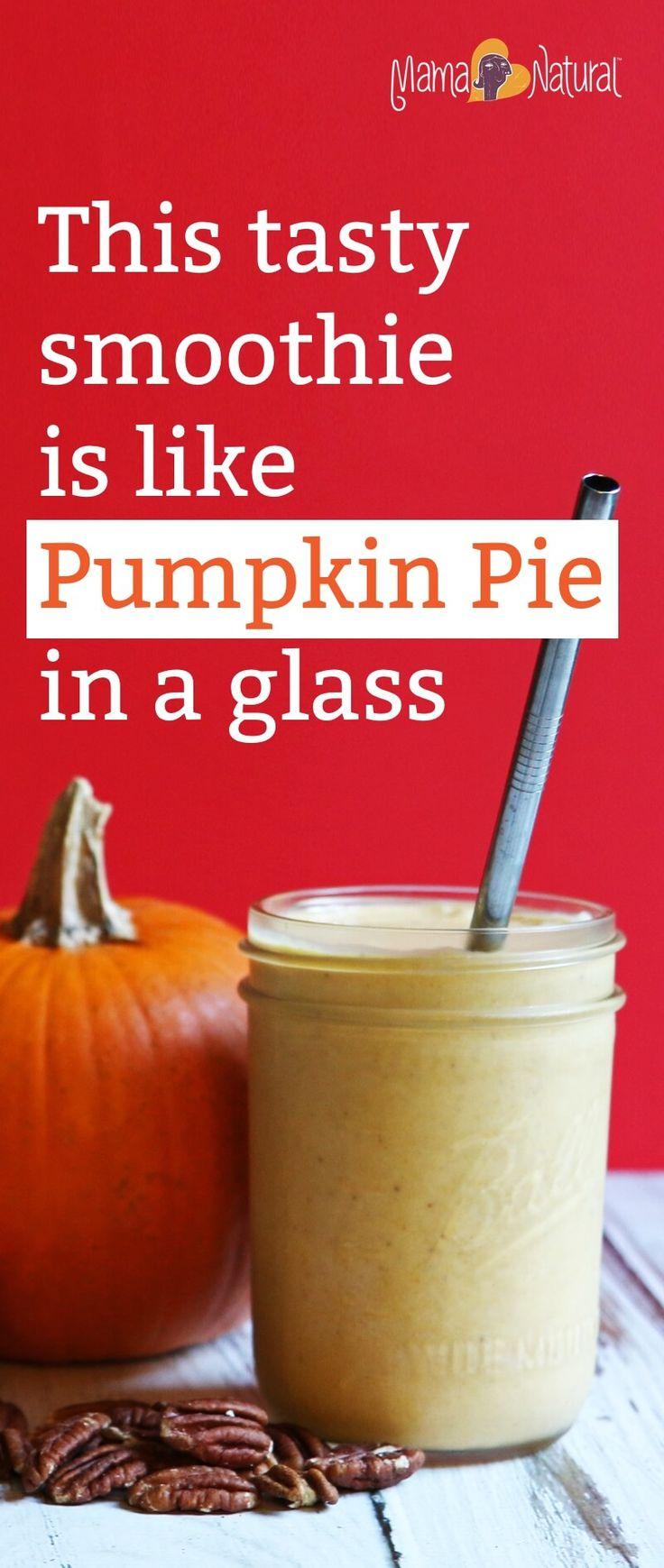 A thick, yummy pumpkin smoothie recipe that tastes like your mom's pumpkin pie…