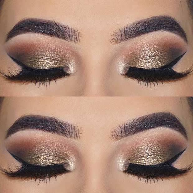 21 Insanely Beautiful Makeup Ideas for Prom: #3. ELEGANT EYE LOOK FOR BROWN EYES… Makeup
