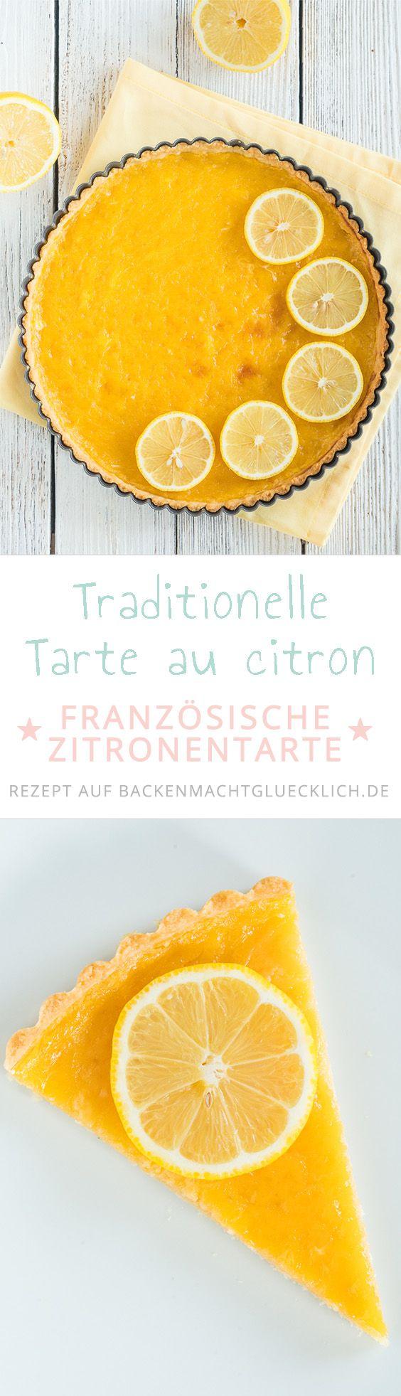 Tarte au citron: Knuspriger Mürbteigboden, fruchtige Zitronencreme: Diese köstliche traditionelle Zitronentarte aus Frankreich ist ein kulinarisches Highlight! Übrigens: Der Lemon Curd Belag auf der Zitronentarte schmeckt auch pur gut.