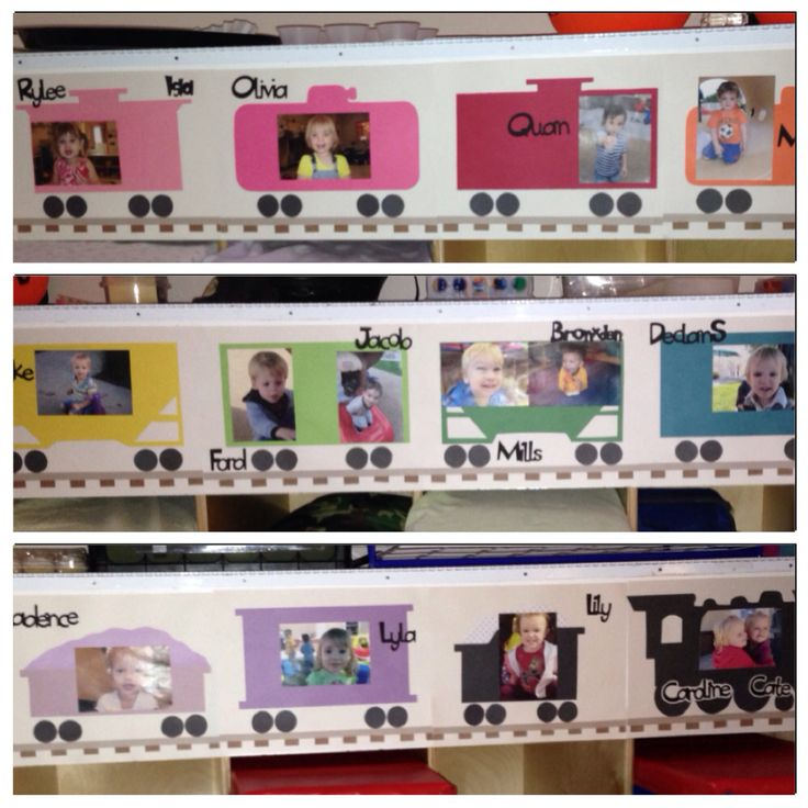 Freight Train cubby tags for my toddler classroom.