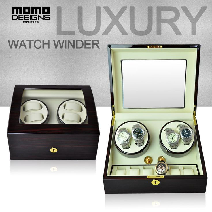 Luxury Rotation watch winder for 4 6 watches JAPAN motor automatic industrial box Watch winding machine Glasstop
