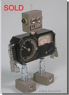 Alarm, Found Object Robot ... by Sally Colby
