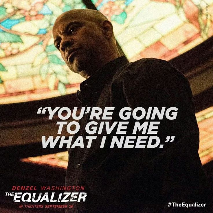 The Equalizer 2 Movie Quotes: 21 Best Equalizer Images On Pinterest