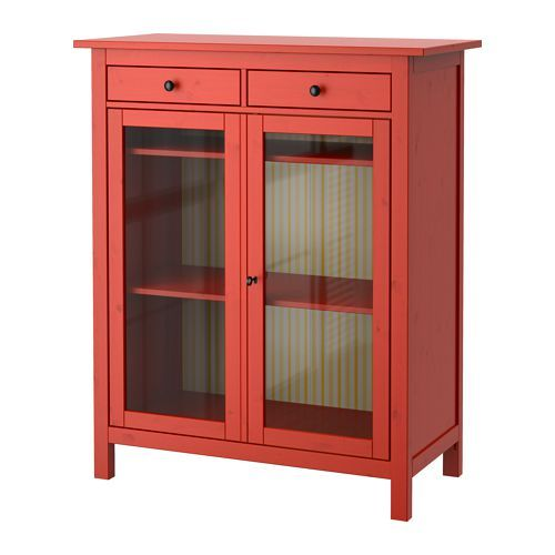 IKEA - HEMNES, Linen cabinet, , Made of solid wood, which is a durable and warm natural material.</t><t>Both shelves are adjustable to four different positions.</t><t>Smooth running drawers with pull-out stop.</t><t>If you want to organize inside, you can complement with interior accessories from the SVIRA series.