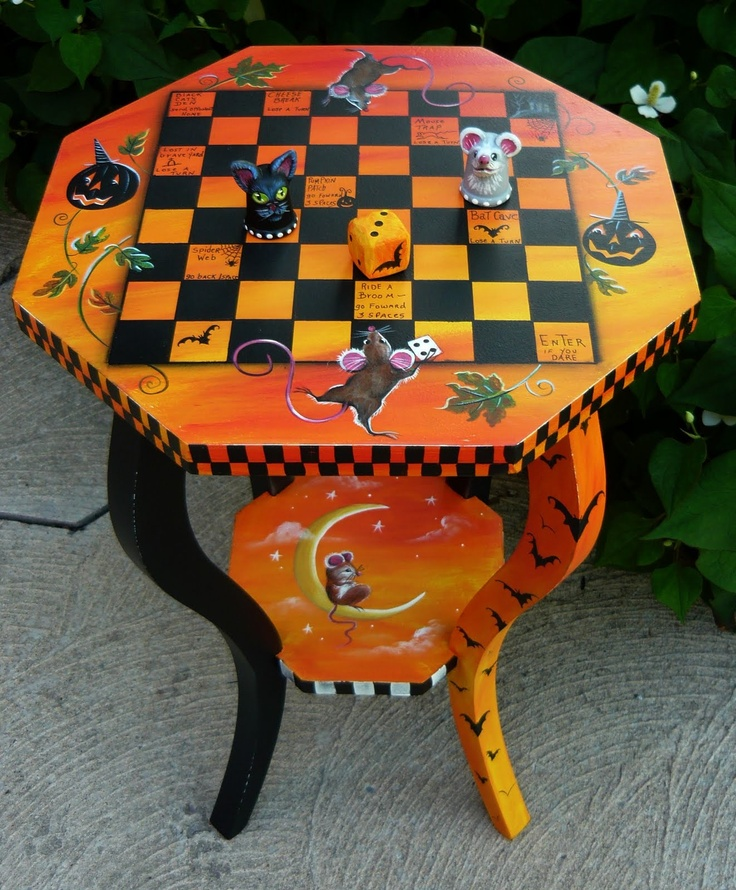MAGIC BRUSH STUDIO: Halloween Mice Game Table~ On e-Bay tonight