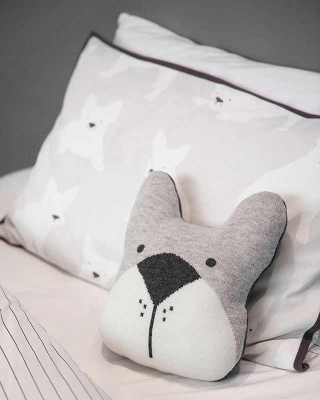 Frankie Knit Cushion | Childrens Bedroom