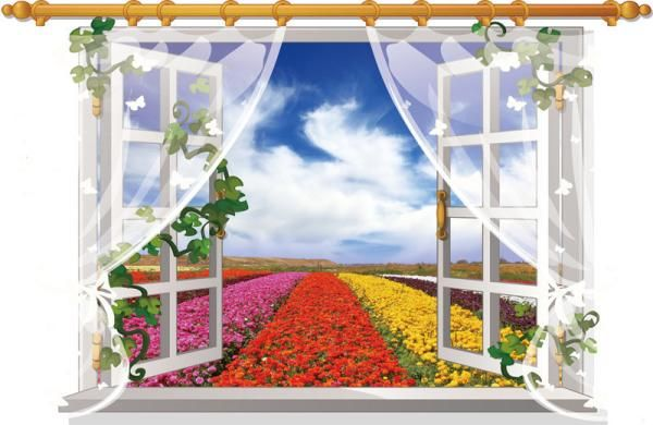 3D Window View Removable Wall Sticker Art Vinyl Decal Home Decor Mural Landscape brand new and high quality Green wall stickers