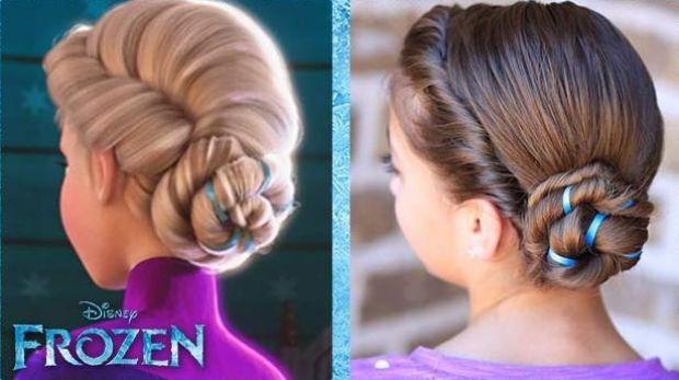 Diy Zopfe Und Hochsteckfrisuren Aus Dem Film Quot The Frozen Quot Frozen Hochsteckfrisuren Zopfe Geflochtene Frisuren Haare Madchen Frisur Hochgesteckt
