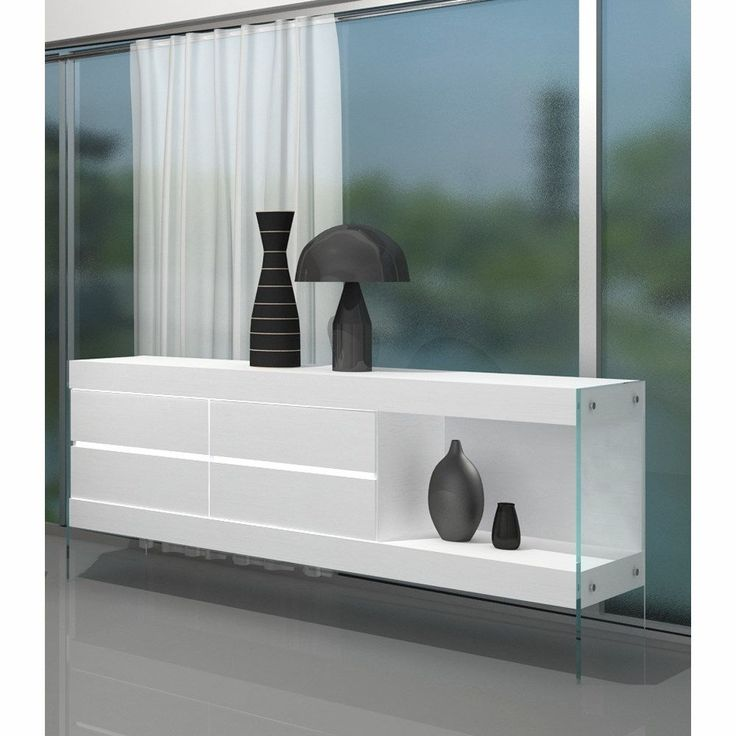 JM Furniture 176971 HG B Cloud Buffet In White High Gloss