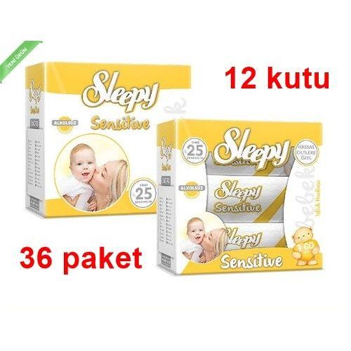 Sleepy Sensitive Islak Havlu Mendil 60 Li 36 Adet (yeni) 69,90 TL ile n11.com'da! Sleepy Islak Mendil